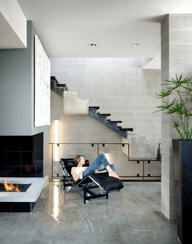 Modern concrete building stairs - 22 ideas for interior and exterior stairs