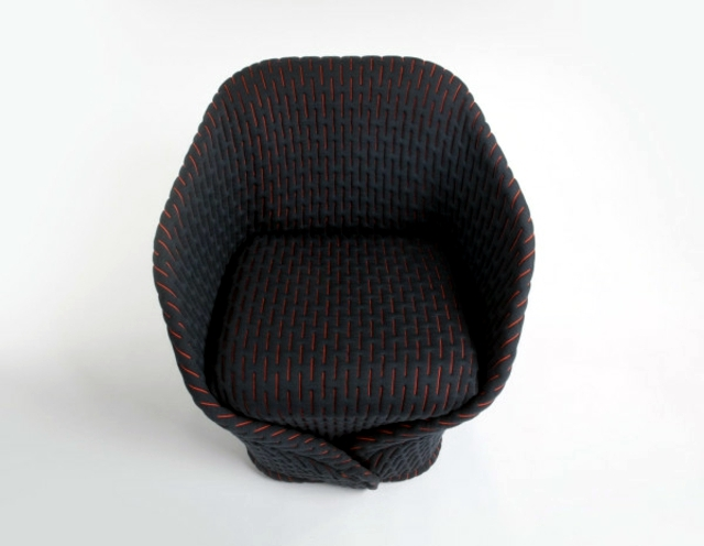 Modern upholstered furniture by Moroso - luxury armchair in retro style