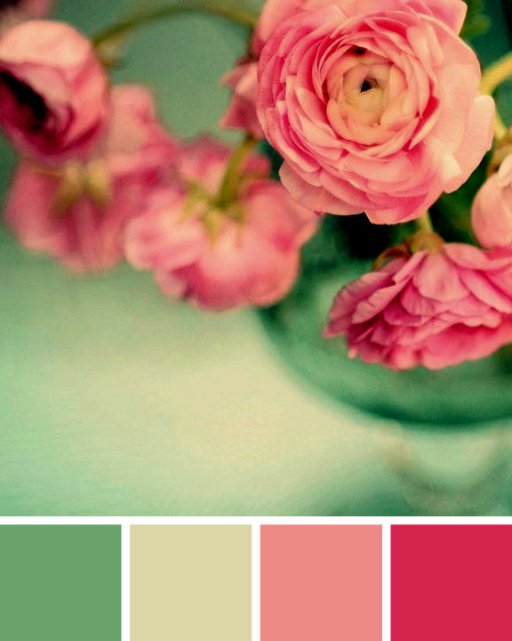 Mint green and pink  colors fashion trend in 2015, in the establishment