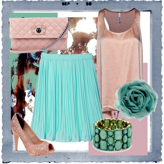mint green and pink  u2013 colors fashion trend in 2015  in the establishment