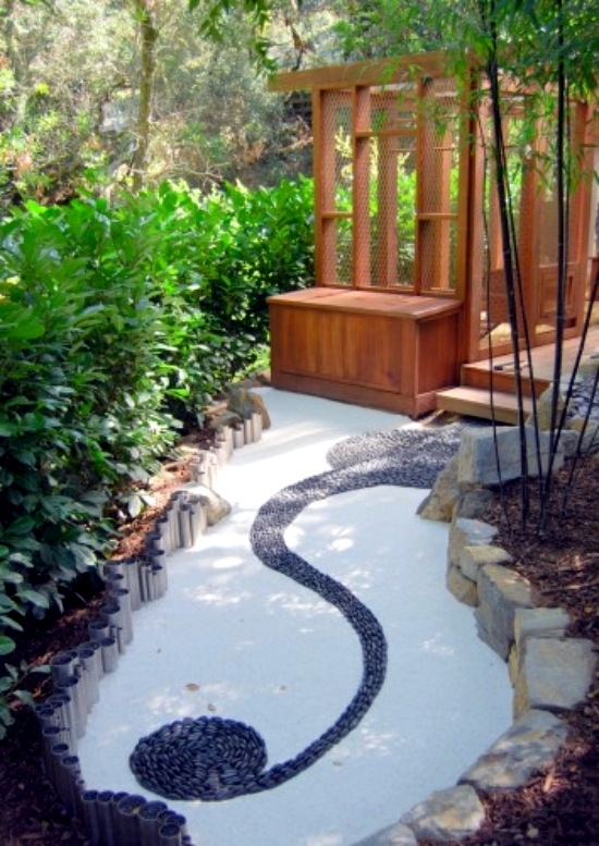 Ideas for garden design relax apply zen garden at home interior design ideas ofdesign - Jardin moderne zen villeurbanne ...