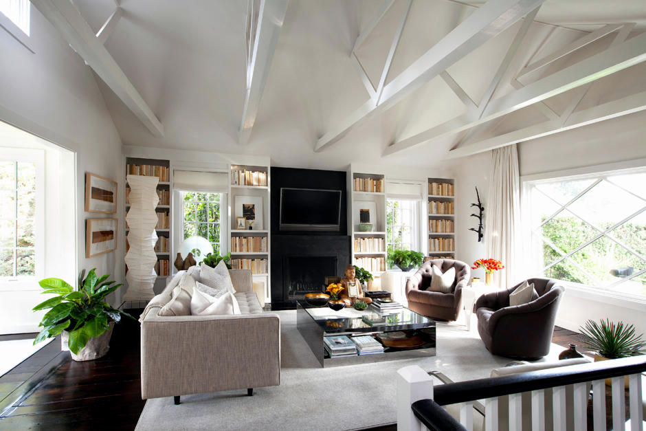 Roof Visible In The Living Room Interior Design Ideas Ofdesign