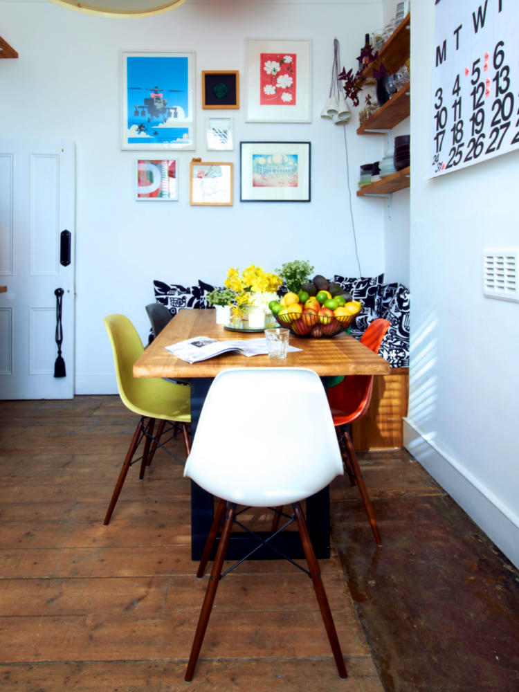 Colorful Eames Chairs At The Table