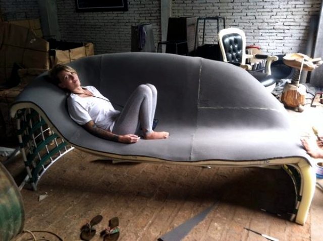 Design Leather Loveseat by David Batho comfort and aesthetics