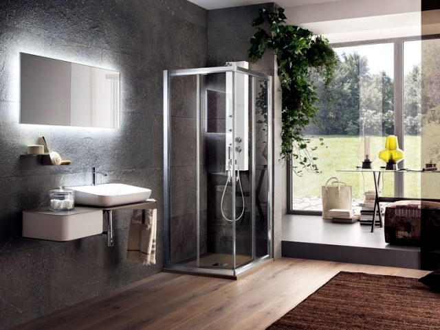 bathroom mirror with light as a functional decoration