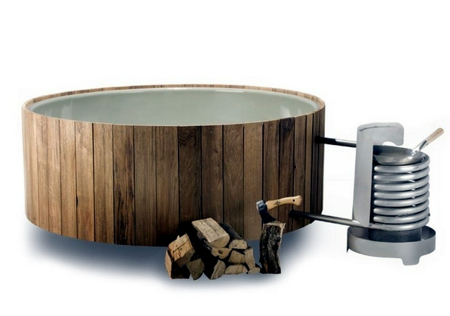 Whirlpool bath wooden outdoor fun