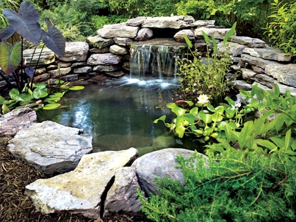 All set to create a garden pond: So it goes step by step