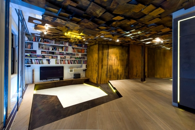 Apartment with modern furniture stresses the beauty of erosion