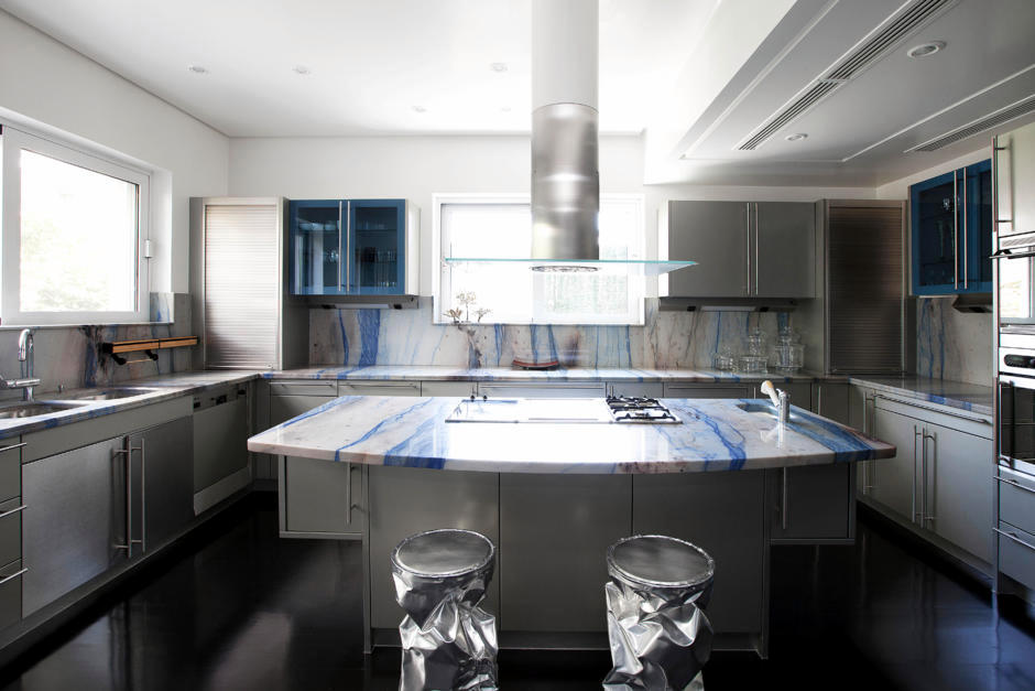 Embellish With Kitchen Worktop Blue Marble Interior