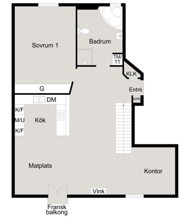 Bright loft in a Scandinavian minimalist style