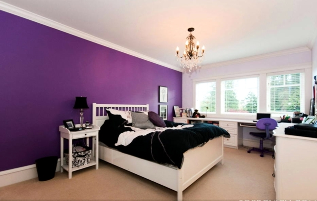 Color Design For Bedroom Mysterious Purple