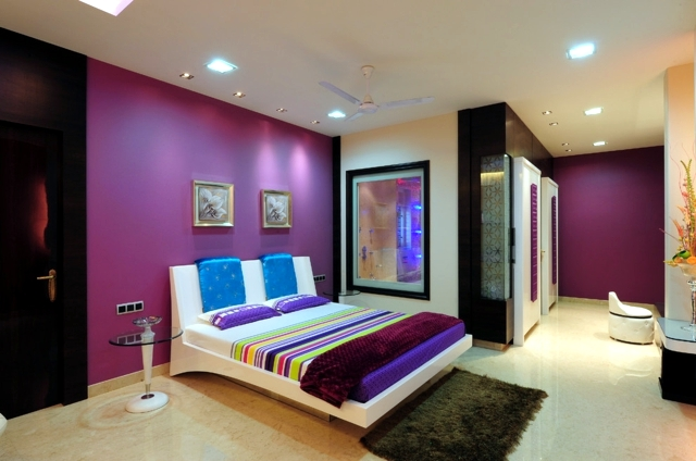 color design for bedroom mysterious purple interior design ideas
