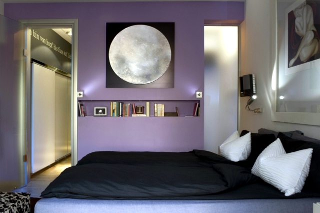 Gentil Color Design For Bedroom   Mysterious Purple