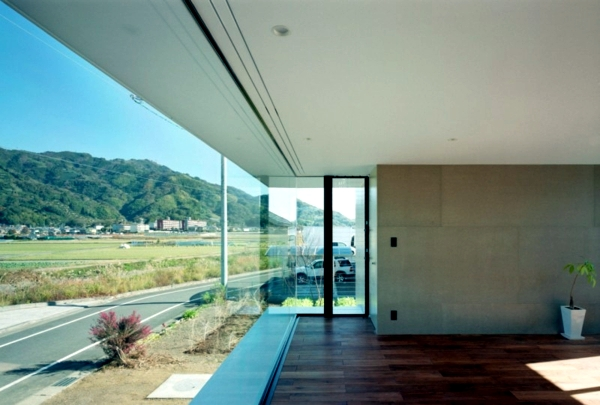 Solid construction with a glass front offers a magnificent view of the surrounding