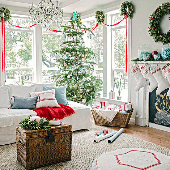 Bring Christmas Lights In The Living Room Interior Design Ideas