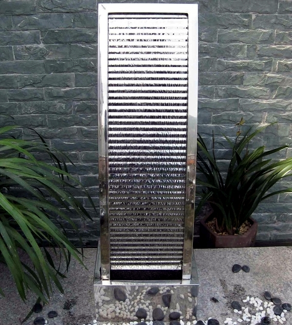 Garden Fountains Stainless Steel beautify your garden landscape