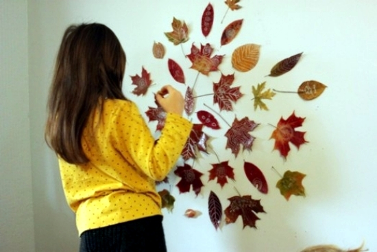 Autumn decoration & Colorful autumn decoration u2013 Fresh Ideas with leaves to make your ...