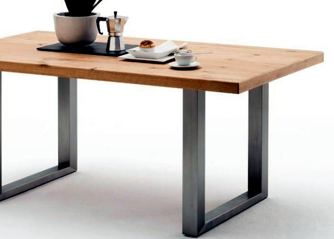 Modern dining tables solid wood provide a warm atmosphere in the room