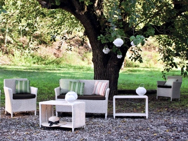 Patio furniture modern wicker lounge Atmosphera Italy