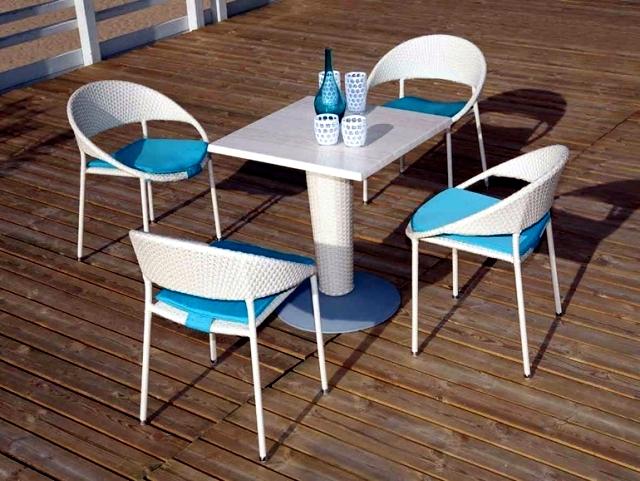 Patio furniture modern wicker lounge Atmosphera Italy