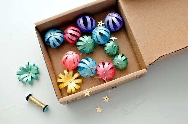 Tree decorations christmas paper craft itself - 22 creative ideas