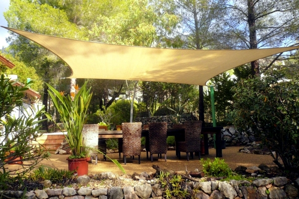 Individual Solutions For Shading Patio Canopy Interior