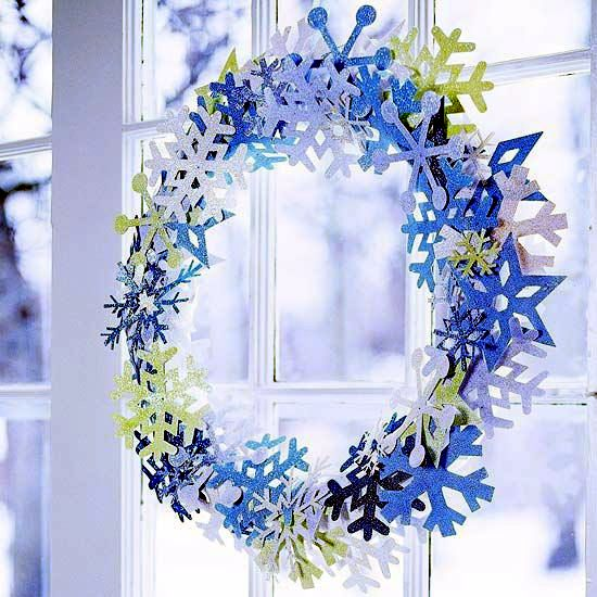 Contemporary reading corner design - Snowflakes Craft And Decorate The Apartment For Christmas