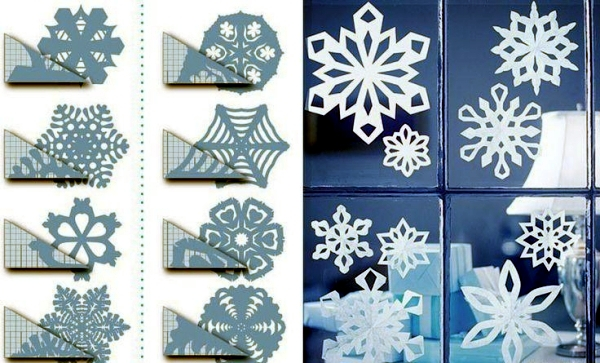 Snowflakes craft and decorate the apartment for Christmas ...