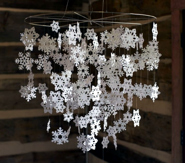 Snowflakes craft and decorate the apartment for Christmas nice