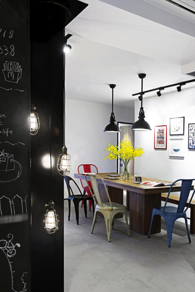 Dining Room Furniture Industrial Zone chic Interior