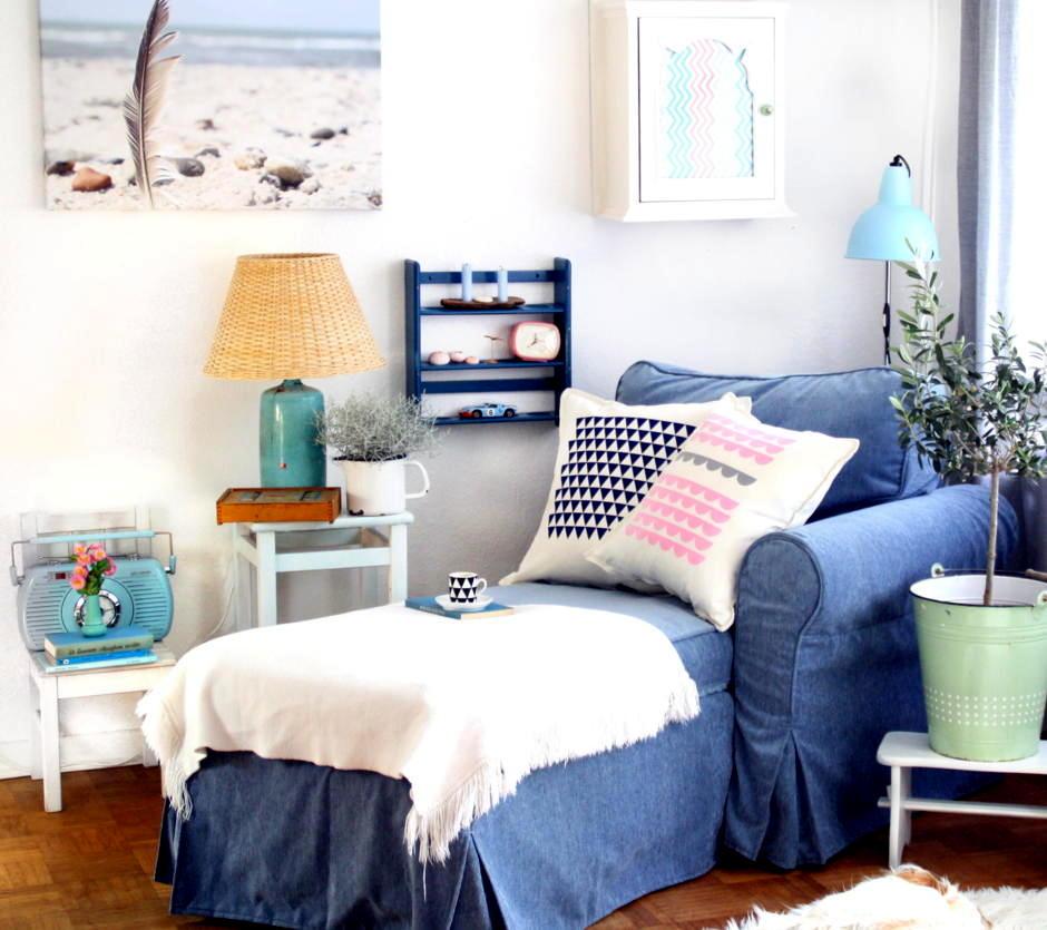 Saustark Design shades of blue cozy corner to interior design ideas