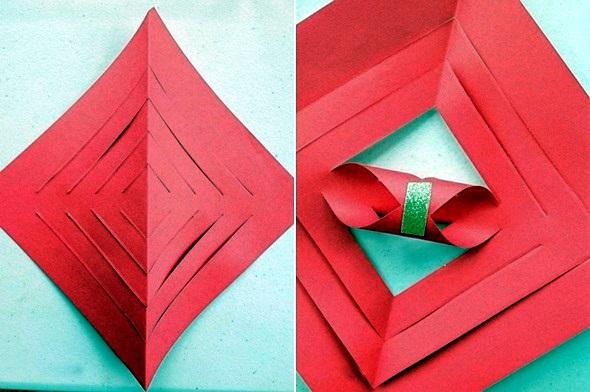 Make paper stars - rapid folding instructions for Christmas