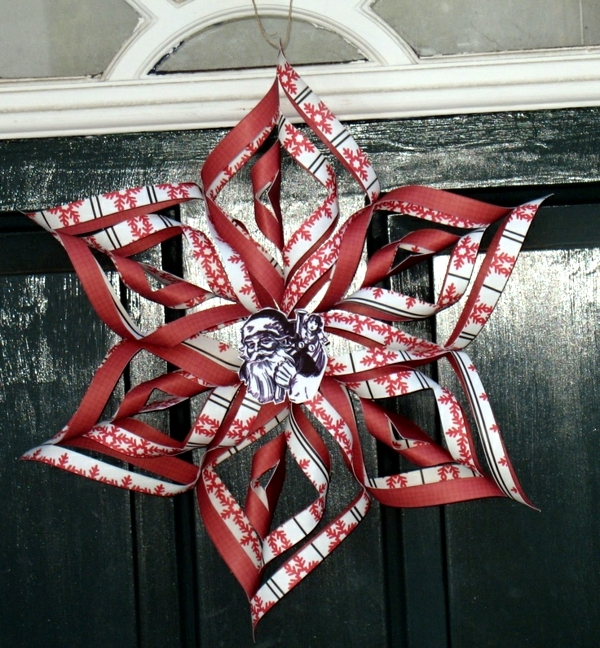 Make paper stars - rapid folding instructions for Christmas