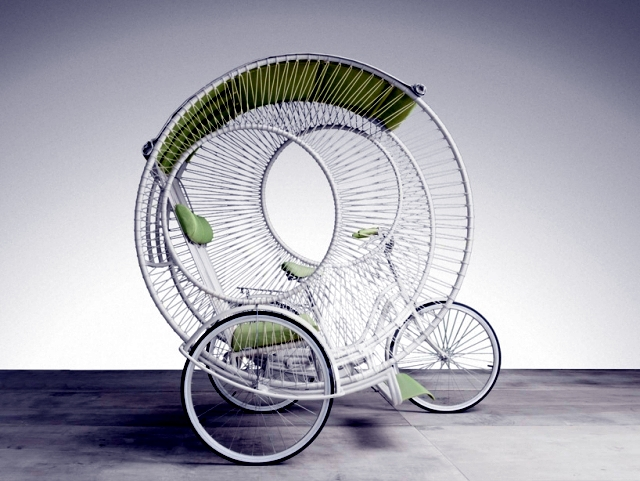 "Three wheel drives modern ""Eclipse"", designed by Kenneth Cobonpue"