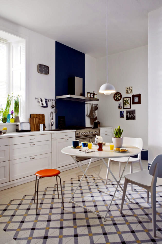 Bright Kitchen With A Classic Danish Design Interior