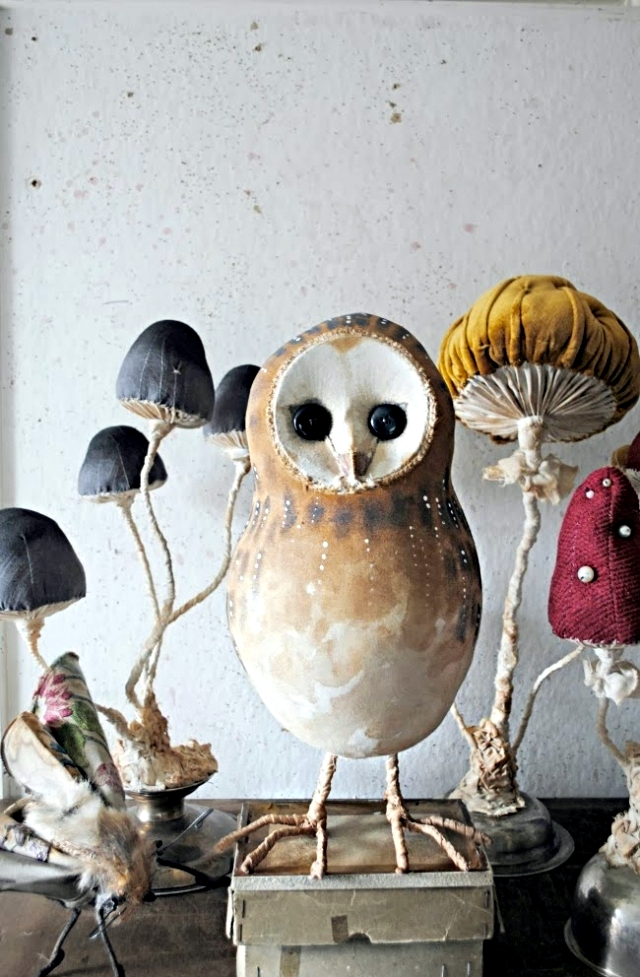 Fabrics and toys inspired by the nature of Mr.Finch fairytale