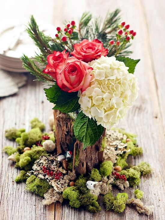 Ideas to decorate the christmas table quick easy and for Amaryllis christmas decoration