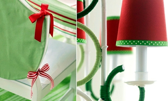 Green Satin Christmas Elf Decoration