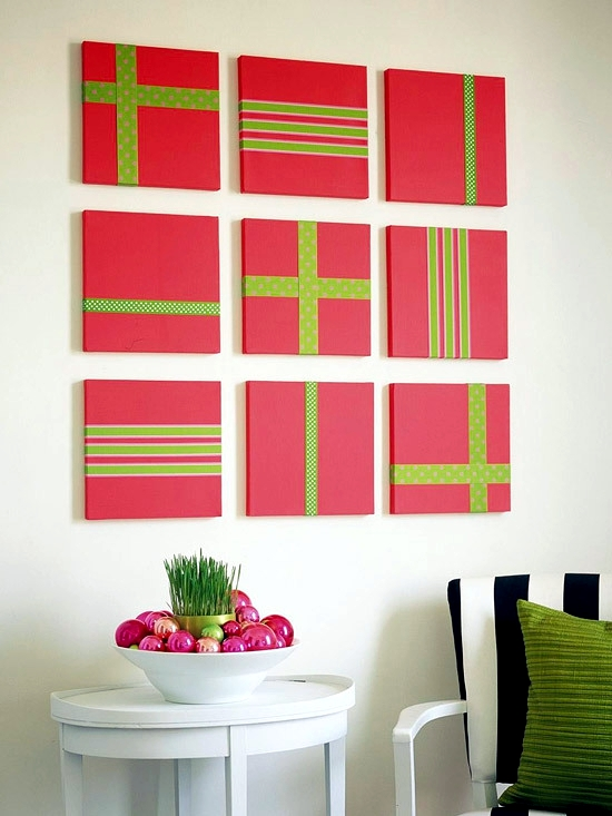 Wall Decoration Ideas With Ribbons : Merry christmas decoration craft ideas with ribbon