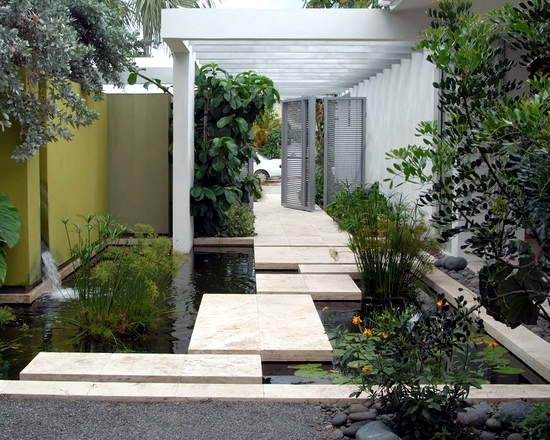 Water features in the garden – 75 ideas for the design of water ...