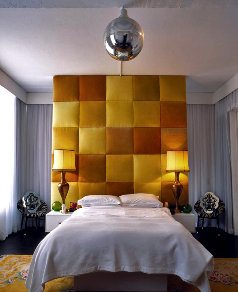 Bedroom Ideas Student Bedroom Furniture Layout Square Room High Bedroom Sets Master Bedroom Ideas Red: High Ceilings Upholstered Headboard In Shades Of Yellow