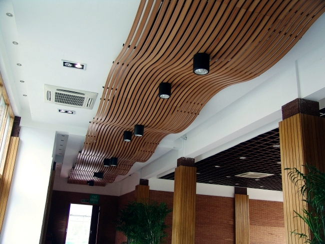 25 suspended ceiling ideas wood - Design Contemporary pendant