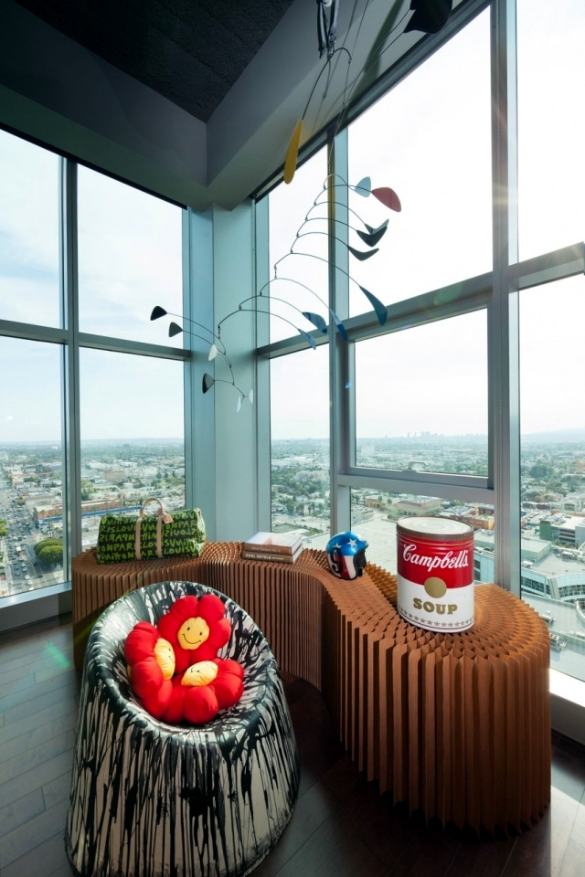 Eclectic furnishings in a stunning luxury apartment penthouse