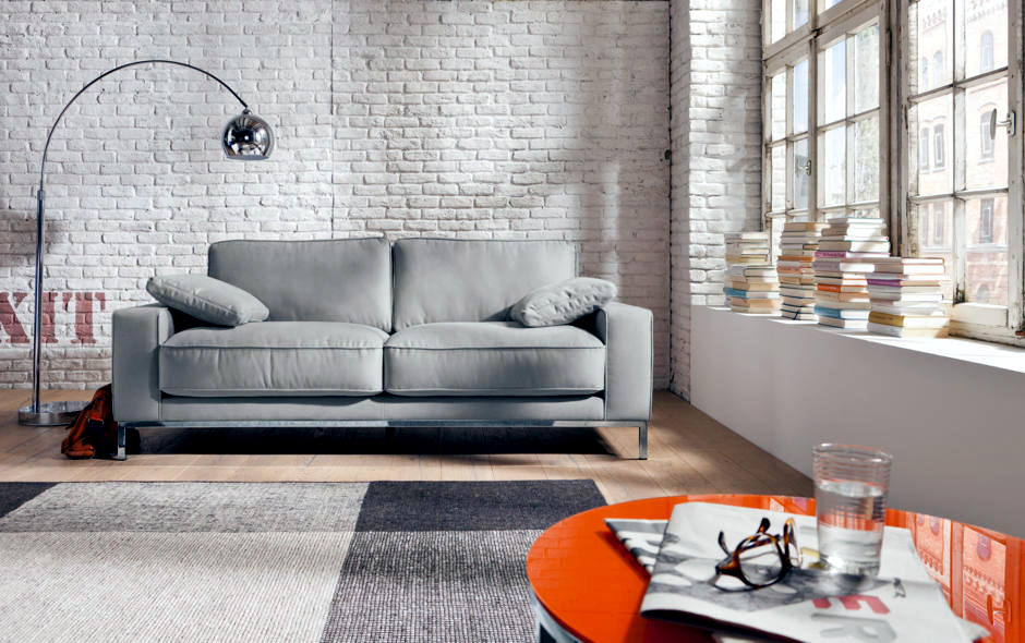 Gray Sofa And Arc Lamp Interior Design Ideas Ofdesign