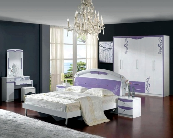 Bedroom design Purple - Lilac 20 ideas for interior decoration