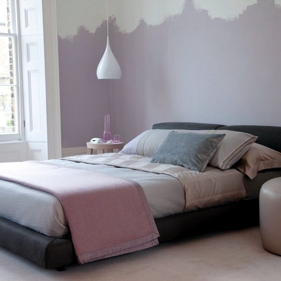 Bedroom design Purple - Lilac 20 ideas for interior decoration