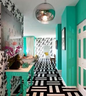 Turquoise And Black White Celebrating The Corridor