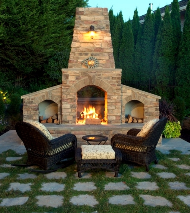 Stone Barbecue Fireplace The Highlight In Garden