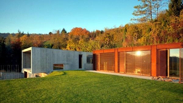 Modern Concrete House YF L Means Architetti Nature