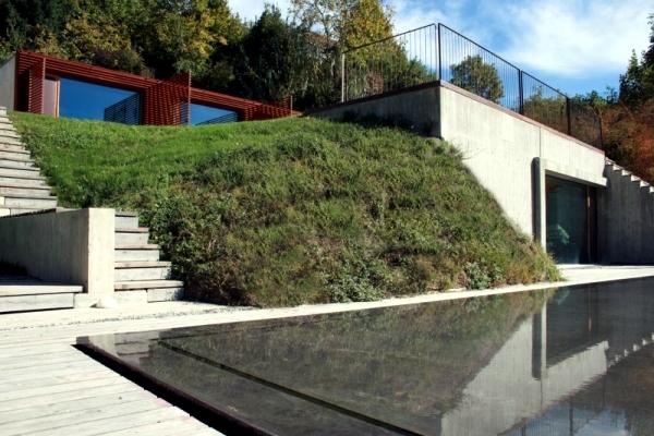 Modern concrete house house YF: L means Architetti nature